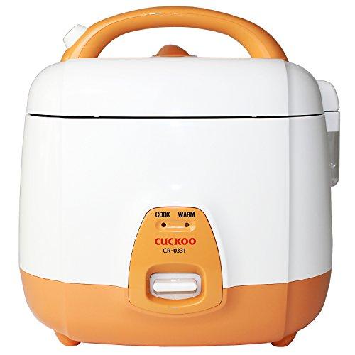 Cuckoo CR-0331 elektrischer Reiskocher mit langer Lebensdauer, 0,54l für 1-3 Personen3