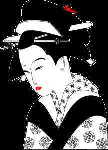 Japanischer Reiskocher Frau mit traditioneller Kleidung