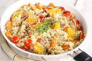 Quinoa mit dem Reishunger digital Reiskocher zubereiten: beispiel für ein Rezept Essen